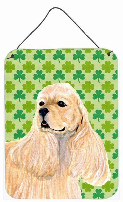 Cocker Spaniel St. Patrick's Day Shamrock Portrait Wall or Door Hanging Prints by Caroline's Treasures
