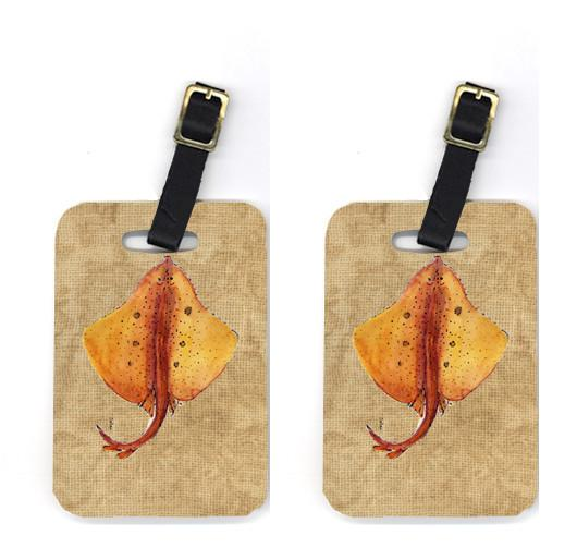 Buy this Pair of Blonde Ray Stingray Luggage Tags