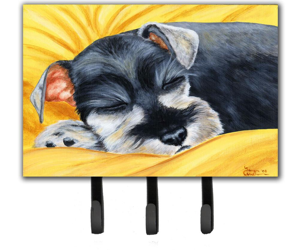 Buy this Snoozing Schnauzer Leash or Key Holder AMB1161TH68