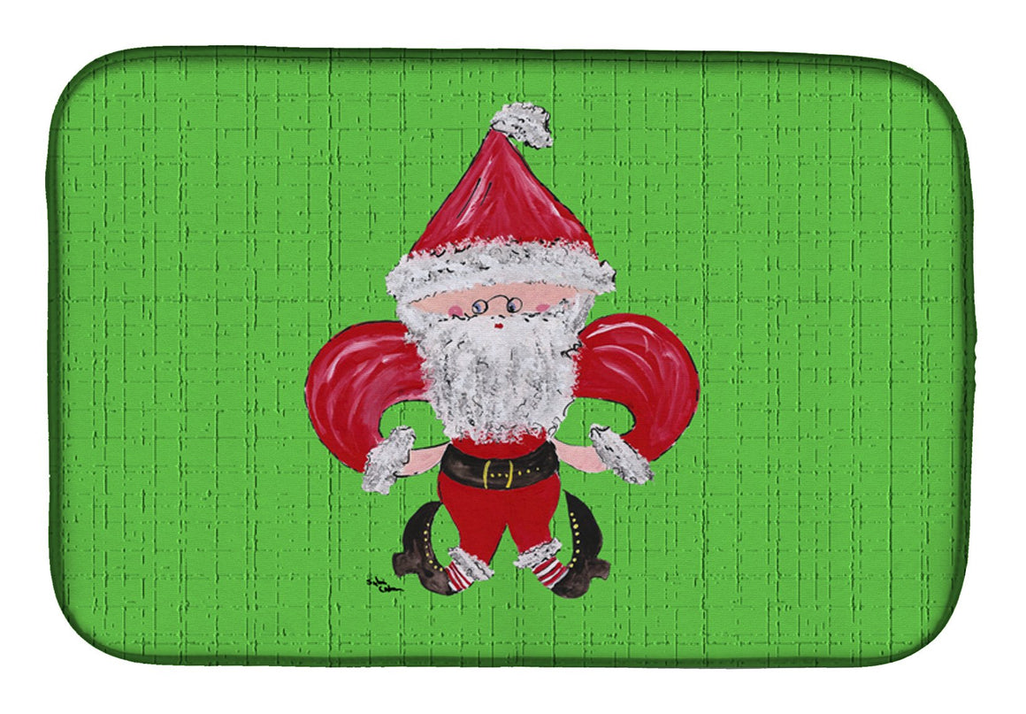 Buy this Christmas Fleur de lis Santa Claus Dish Drying Mat 8500DDM