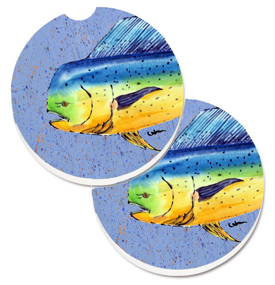 Buy this Dolphin Mahi Mahi Set of 2 Cup Holder Car Coasters 8521CARC