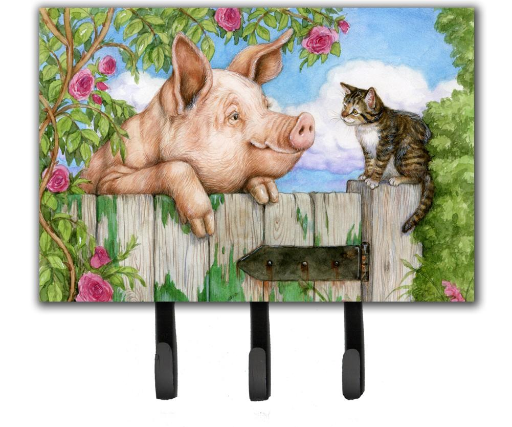 Pig at the Gate with the Cat Leash or Key Holder CDCO0349TH68 by Caroline's Treasures