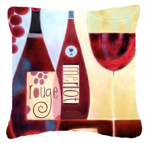 Buy this Wine Collection Rouge by Cathy Brear Canvas Decorative Pillow BCBR0069PW1414
