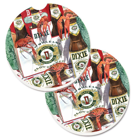 Buy this Dixie Beer and Crawfish New Orleans Set of 2 Cup Holder Car Coasters 8541CARC