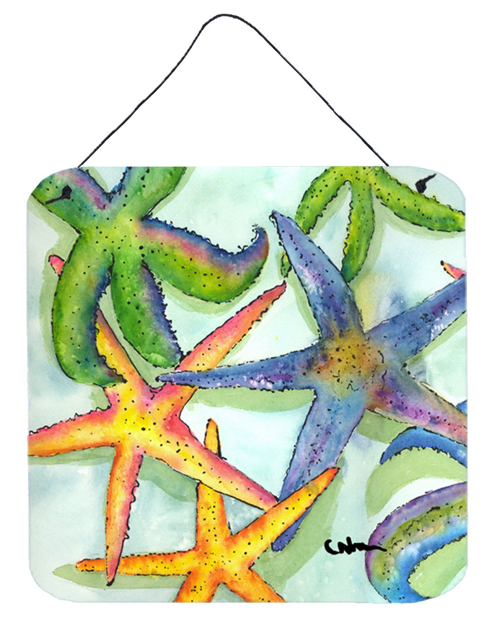 Starfish Aluminium Metal Wall or Door Hanging Prints by Caroline's Treasures