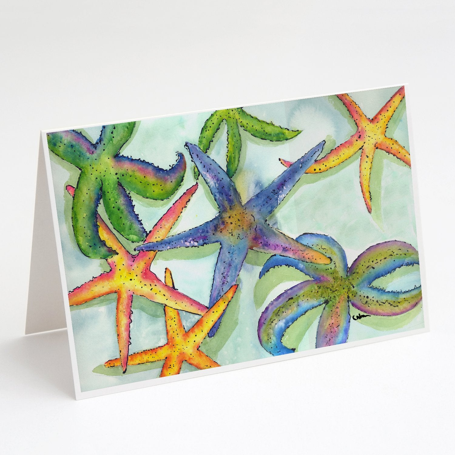 Buy this Starfish Greeting Cards and Envelopes Pack of 8