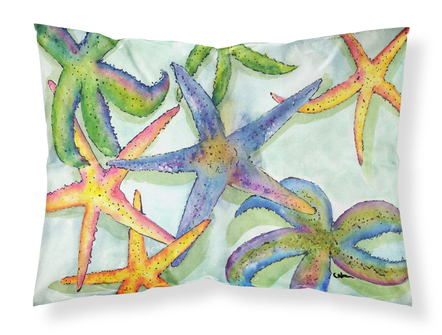 Starfish  Moisture wicking Fabric standard pillowcase by Caroline's Treasures