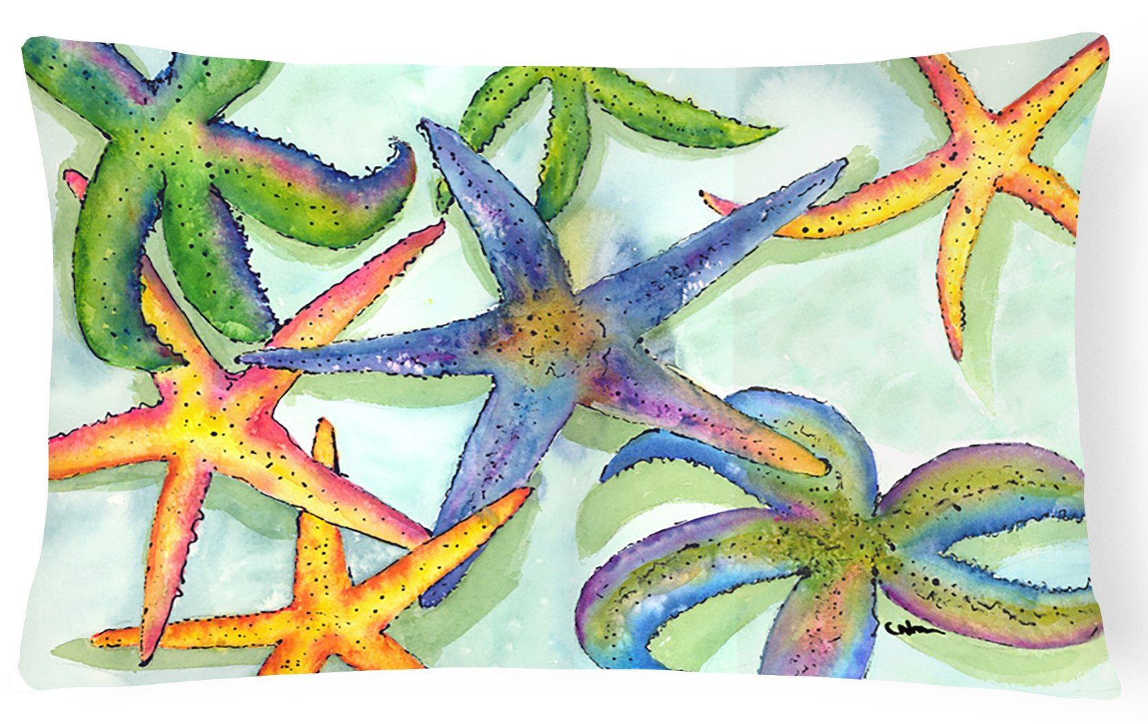 Starfish   Canvas Fabric Decorative Pillow by Caroline's Treasures