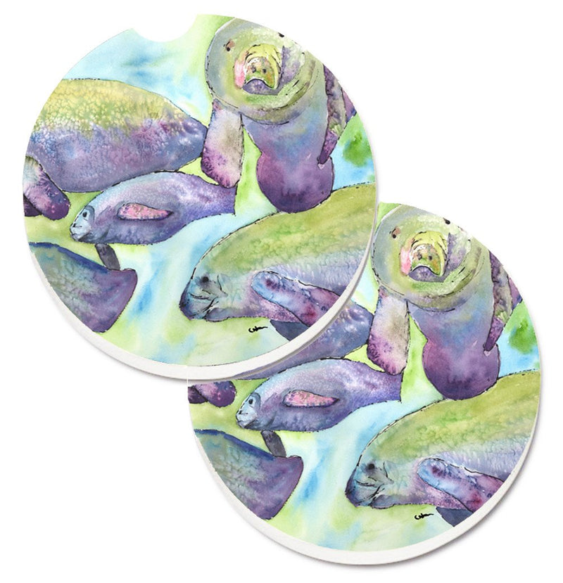 Buy this Manatee Set of 2 Cup Holder Car Coasters 8544CARC