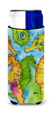 Seahorse Ultra Beverage Insulators for slim cans 8546MUK by Caroline's Treasures