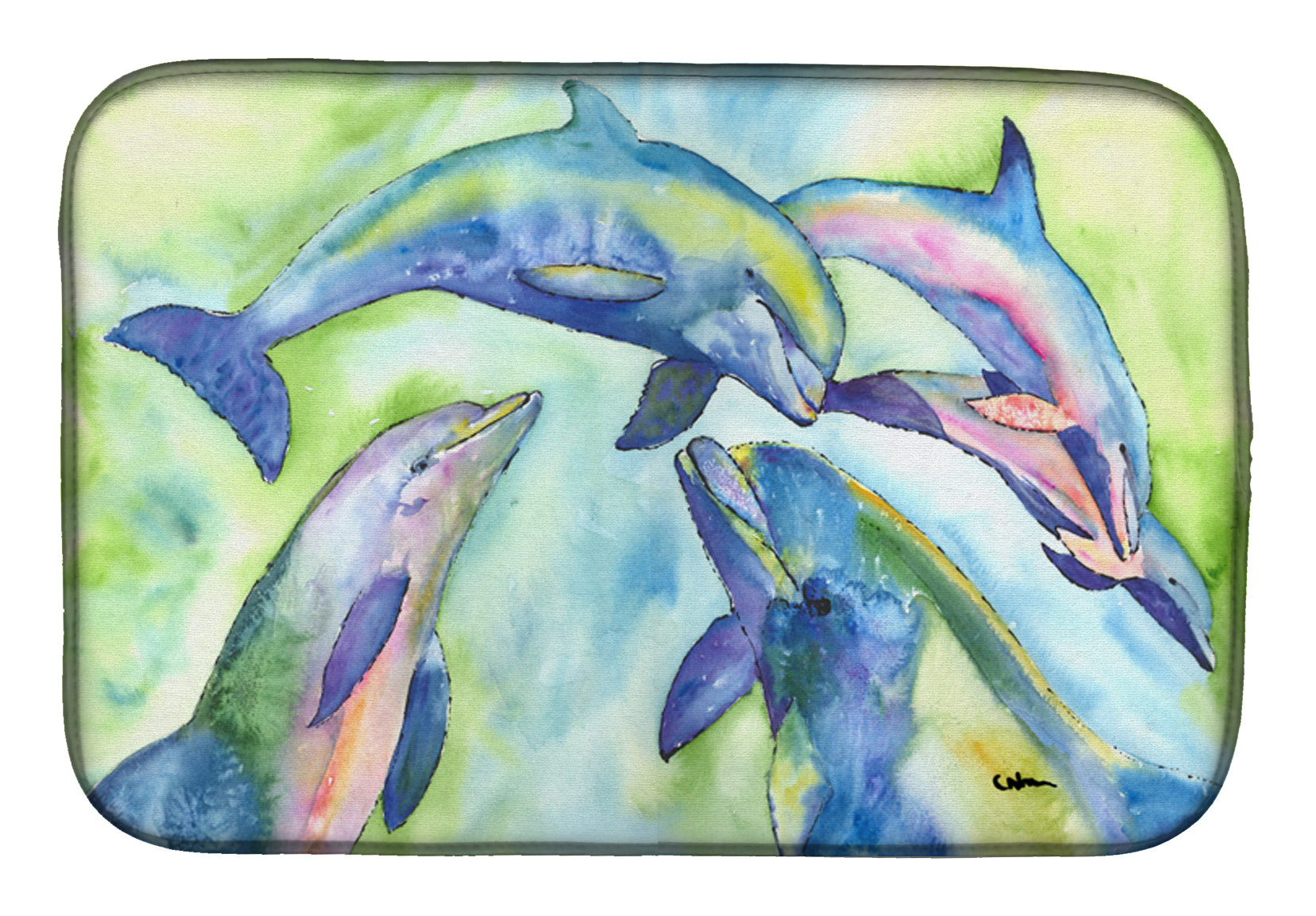 Buy this Dolphin Dish Drying Mat 8548DDM