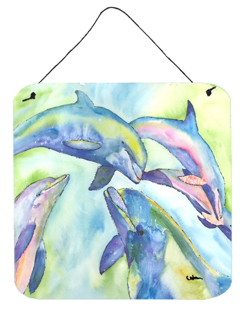 Dolphin Aluminium Metal Wall or Door Hanging Prints by Caroline's Treasures