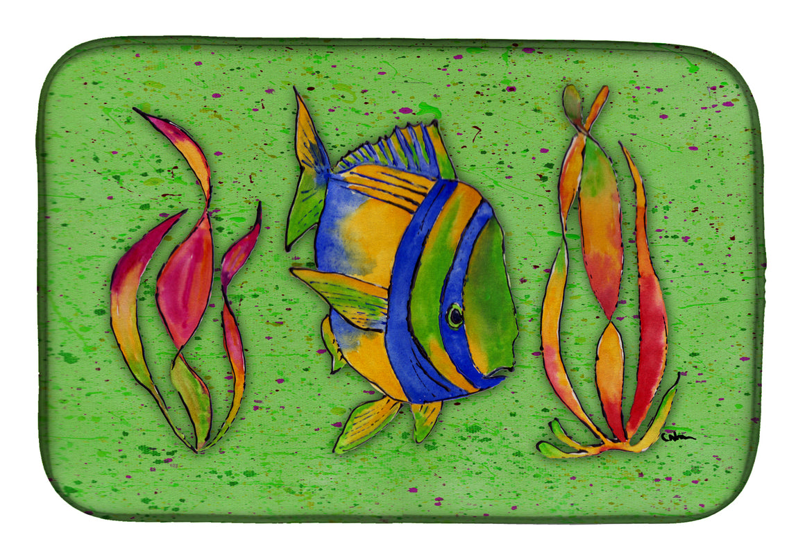 Buy this Tropical Fish on Green Dish Drying Mat 8568DDM