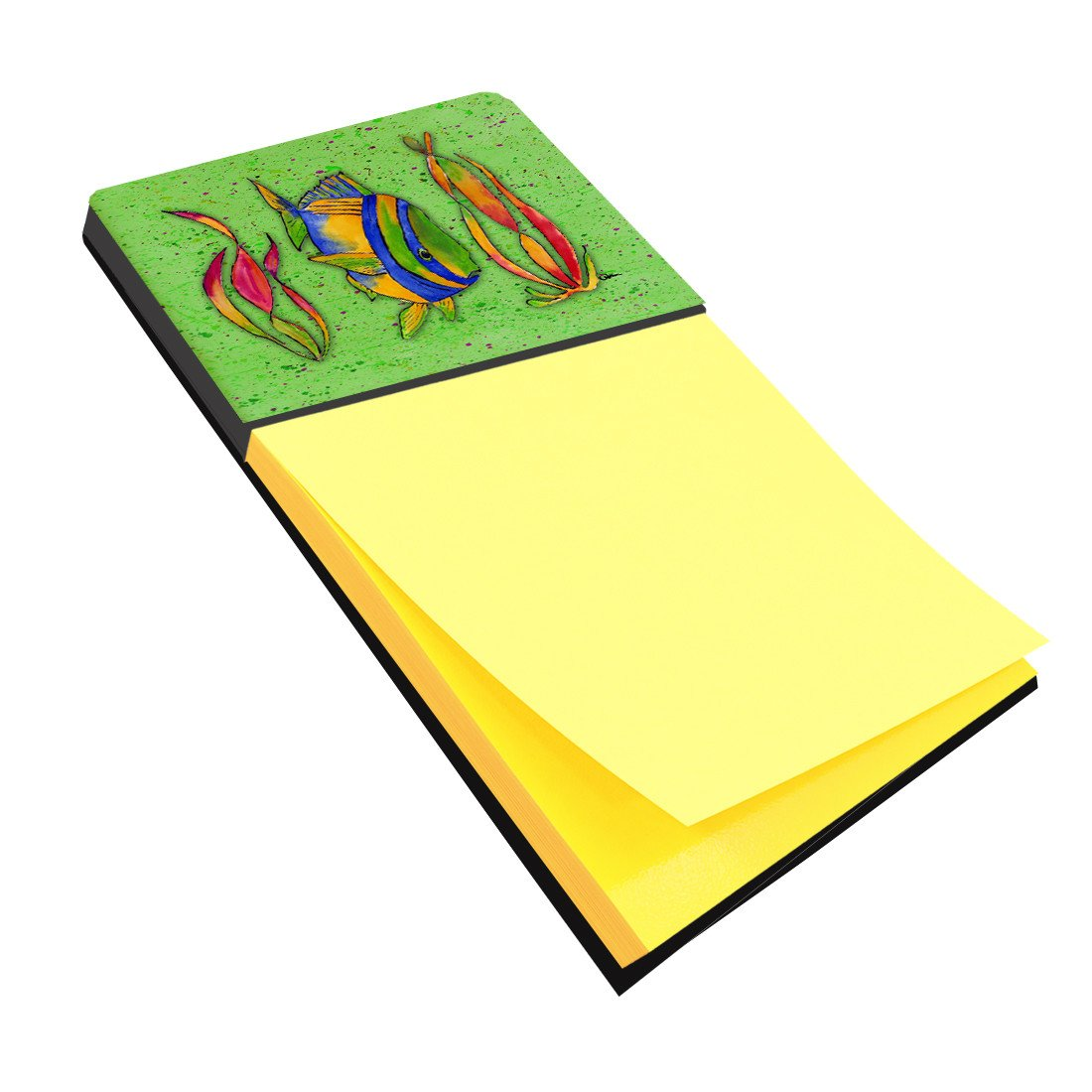 Tropical Fish on Green Refiillable Sticky Note Holder or Postit Note Dispenser 8568SN by Caroline's Treasures