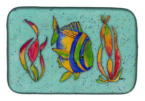 Buy this Tropical Fish on Teal Dish Drying Mat 8569DDM