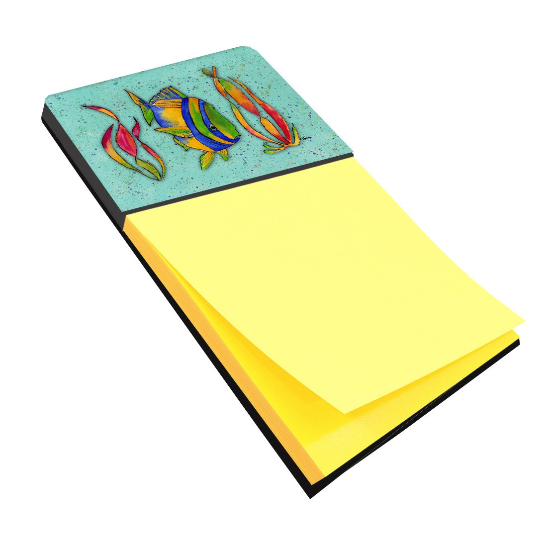 Tropical Fish on Teal Refiillable Sticky Note Holder or Postit Note Dispenser 8569SN by Caroline's Treasures