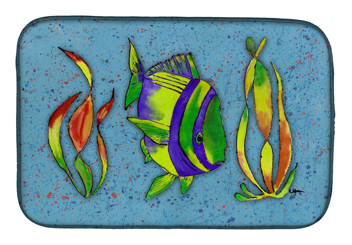 Buy this Tropical Fish on Blue Dish Drying Mat 8570DDM