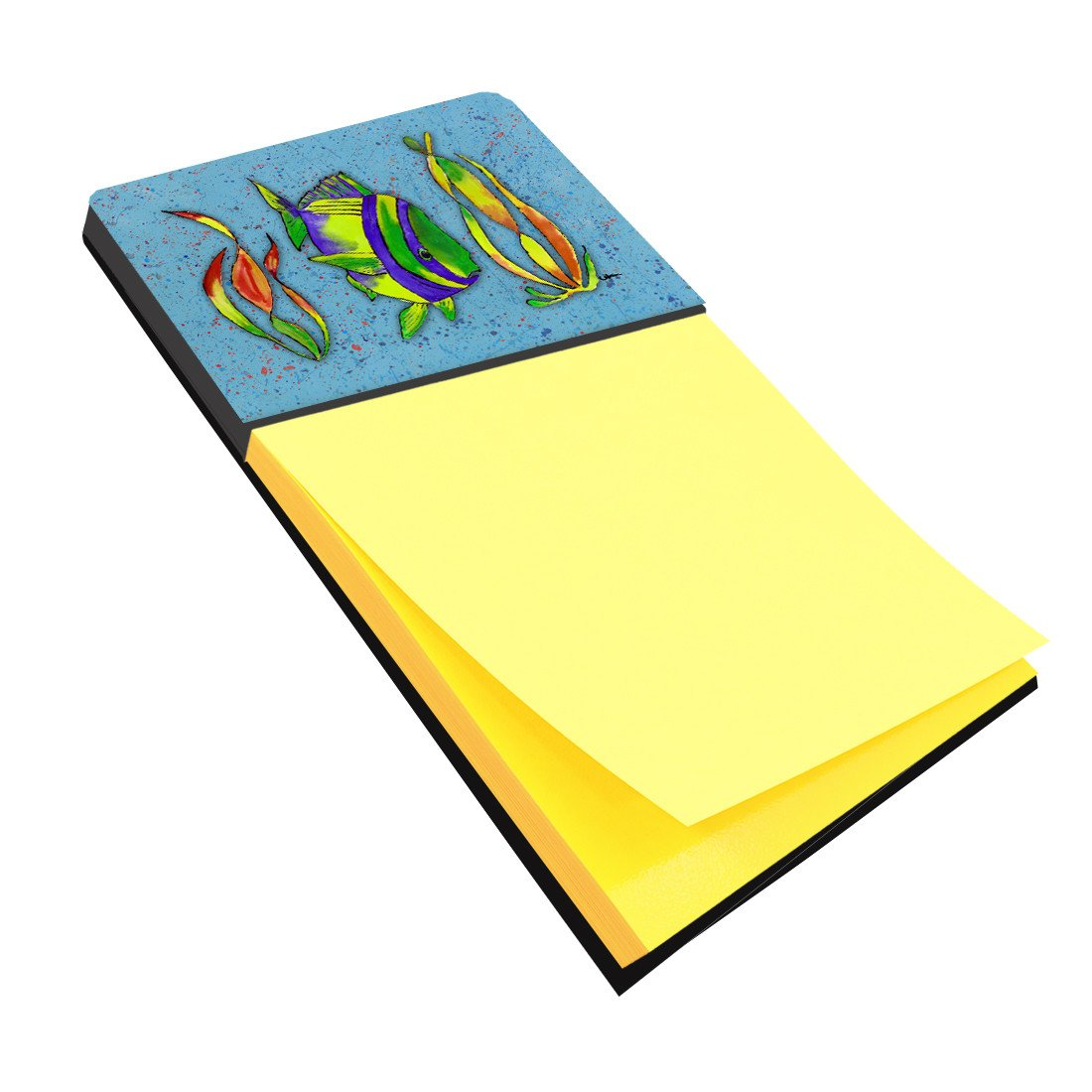 Tropical Fish on Blue Refiillable Sticky Note Holder or Postit Note Dispenser 8570SN by Caroline's Treasures