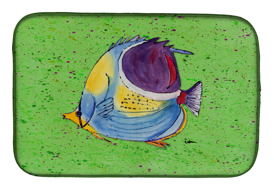 Buy this Tropical Fish on Green Dish Drying Mat 8574DDM
