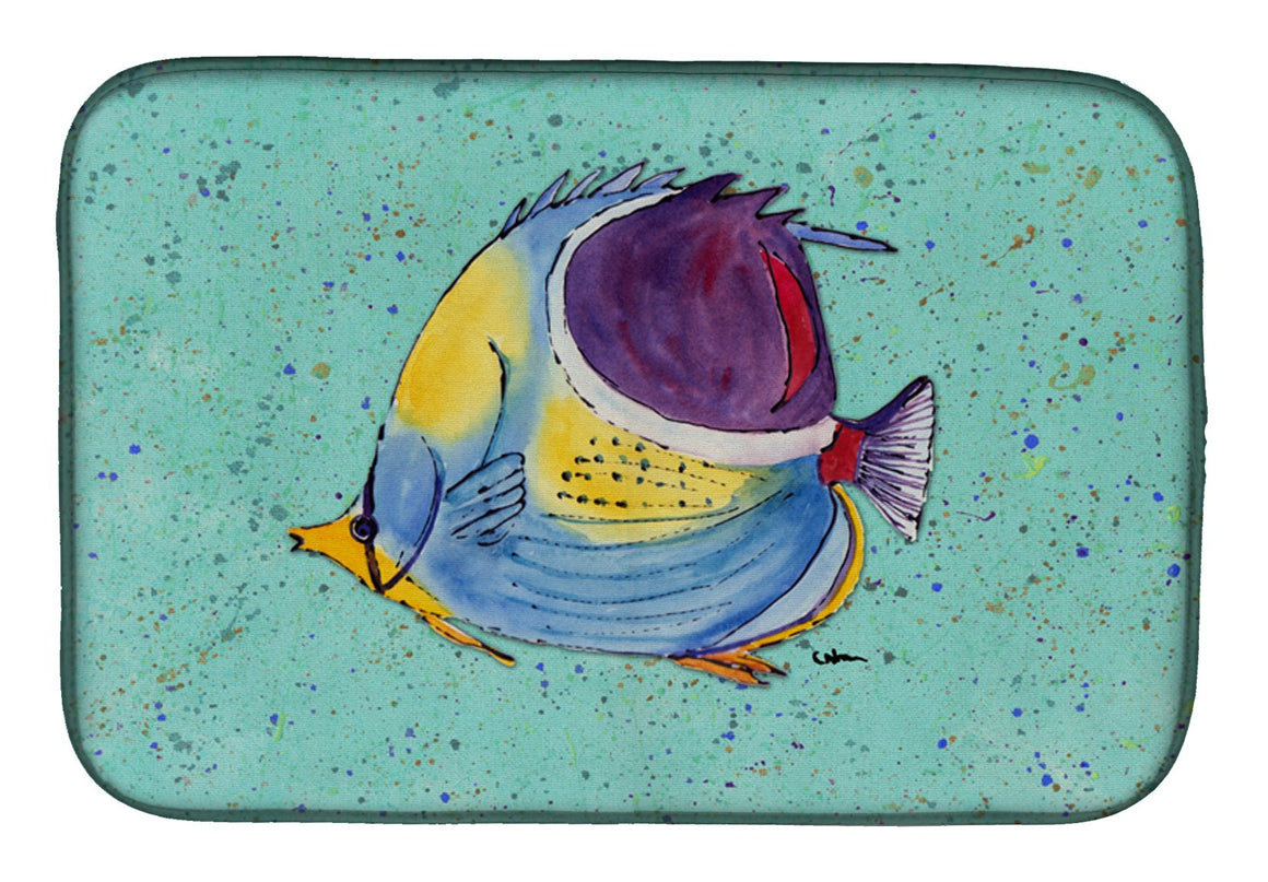 Buy this Tropical Fish on Teal Dish Drying Mat 8576DDM