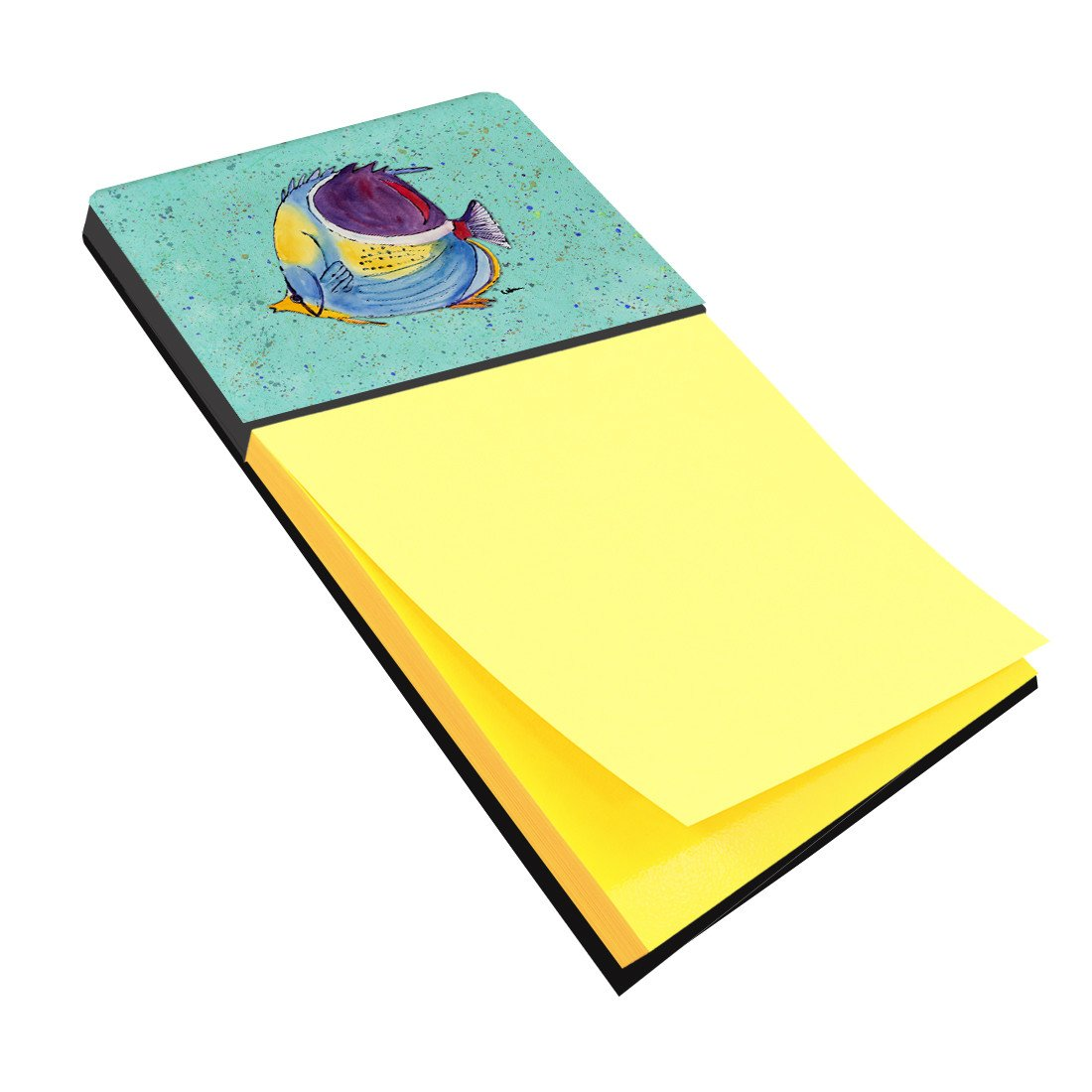 Tropical Fish on Teal Refiillable Sticky Note Holder or Postit Note Dispenser 8576SN by Caroline's Treasures