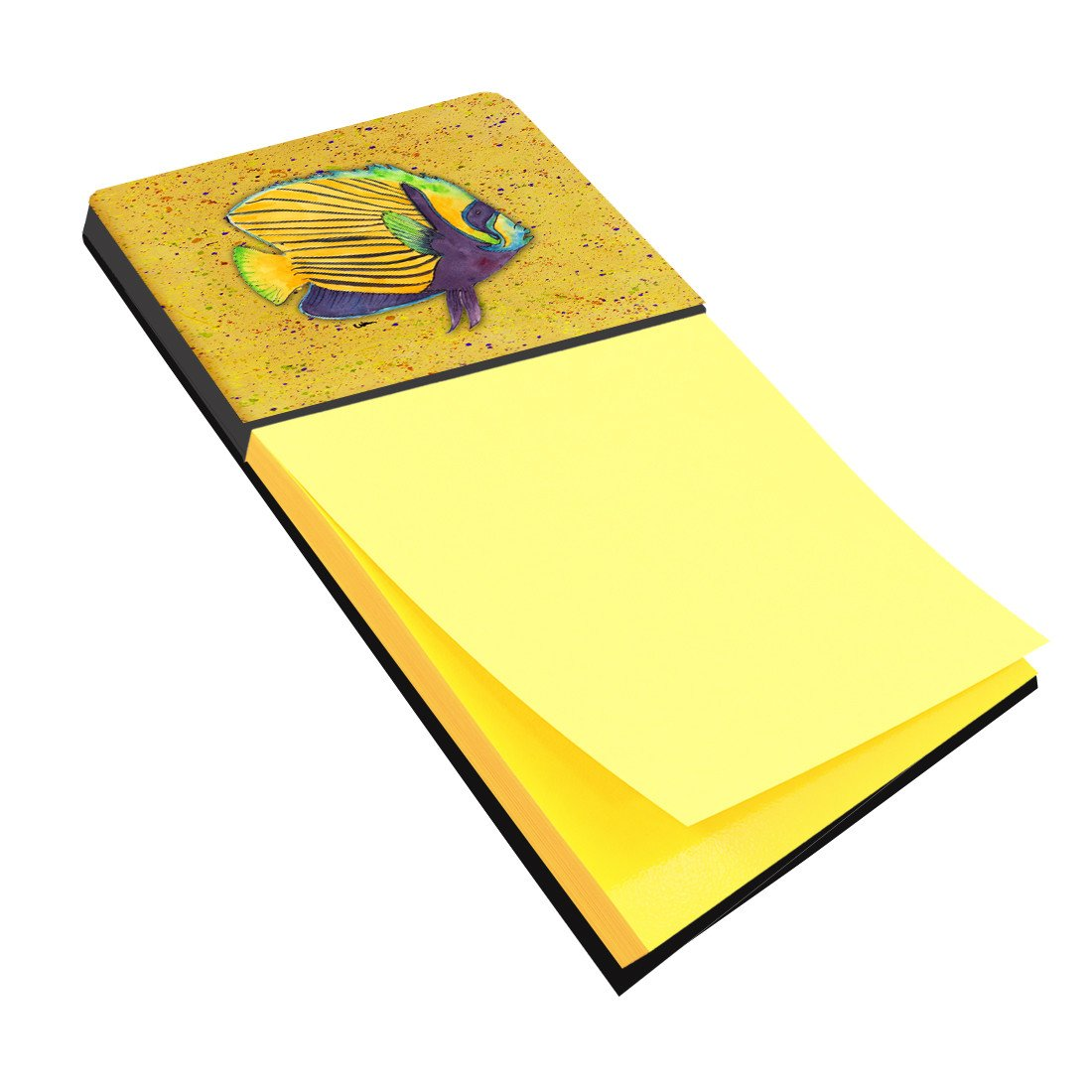 Tropical Fish on Mustard Refiillable Sticky Note Holder or Postit Note Dispenser 8577SN by Caroline's Treasures