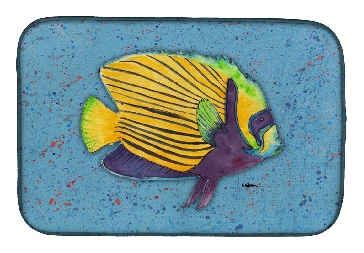 Buy this Tropical Fish on Blue Dish Drying Mat 8579DDM