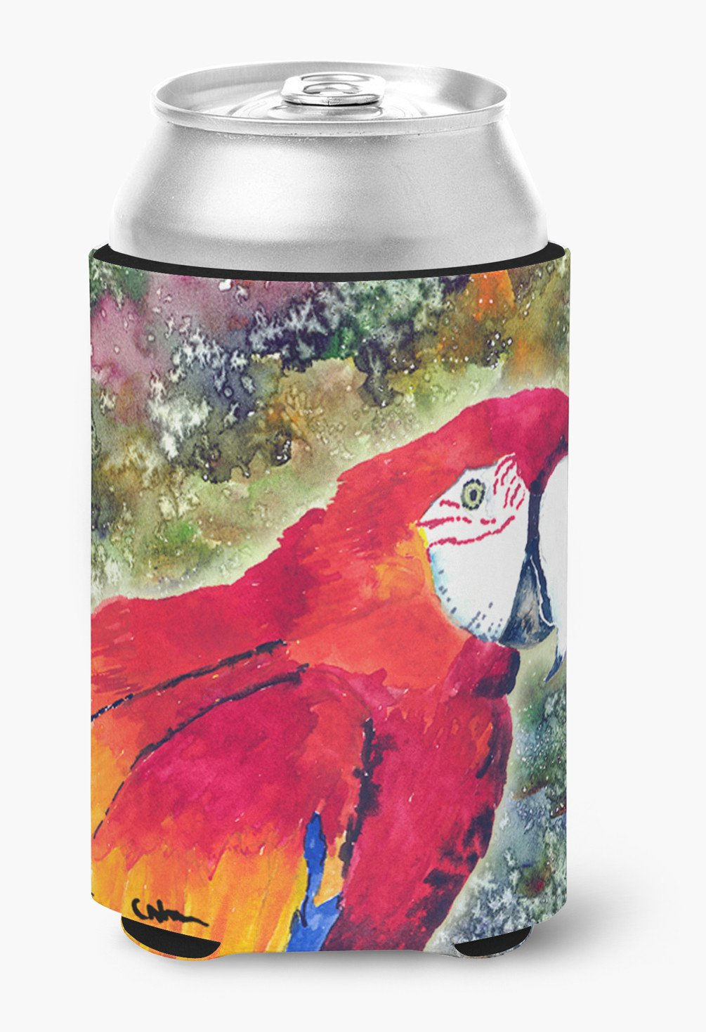 Bird - Parrot Can or Bottle Beverage Insulator Hugger by Caroline's Treasures