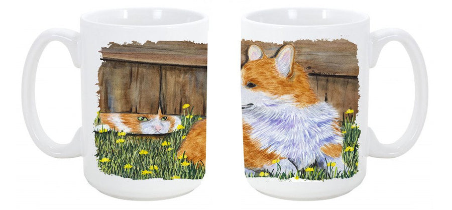 Buy this Corgi Dishwasher Safe Microwavable Ceramic Coffee Mug 15 ounce SS8213CM15