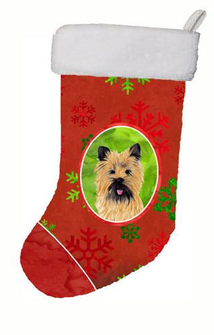 Buy this Cairn Terrier Red and Green Snowflakes Holiday  Christmas Stocking