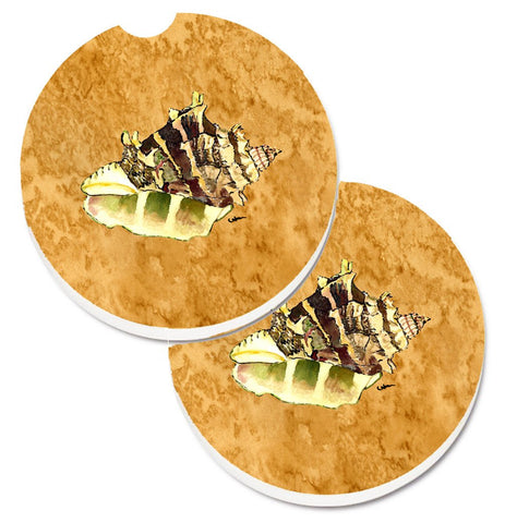 Buy this Shell Set of 2 Cup Holder Car Coasters 8658CARC