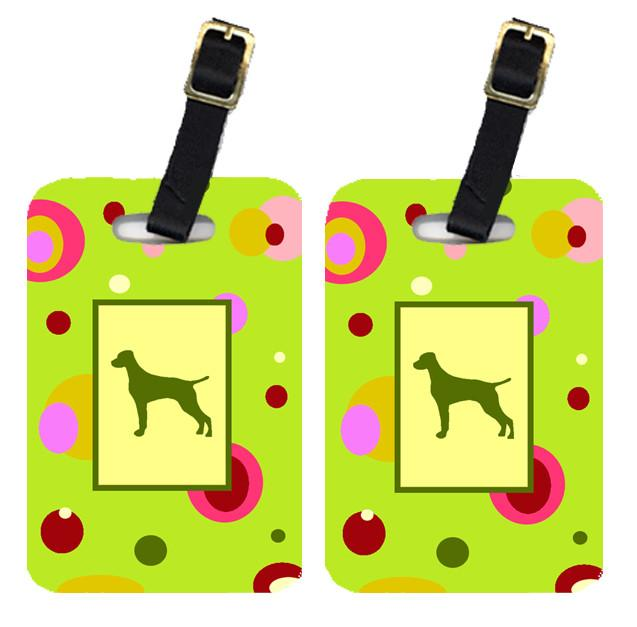 Pair of 2 Vizsla Luggage Tags by Caroline's Treasures