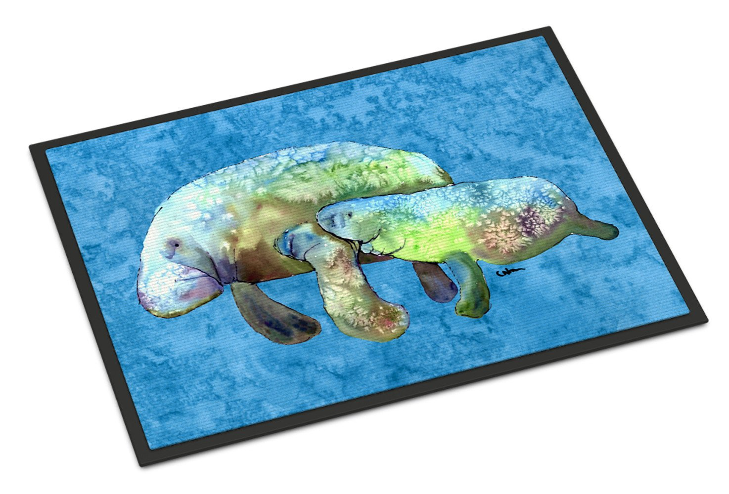 Momma and Baby Manatee Indoor or Outdoor Mat 18x27 8660MAT by Caroline's Treasures