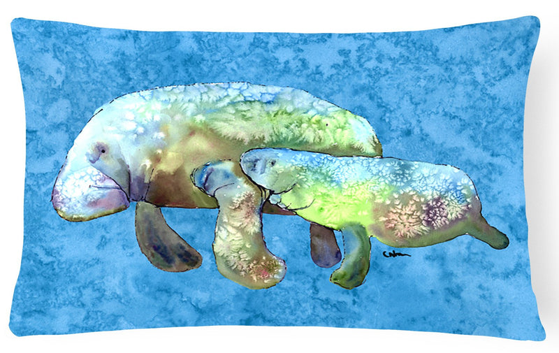 Buy this Manatee   Canvas Fabric Decorative Pillow