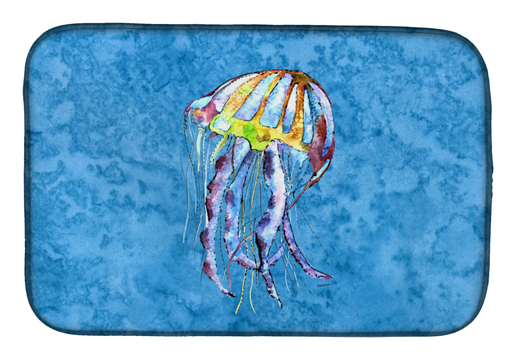 Jellyfish Dish Drying Mat 8682DDM by Caroline's Treasures