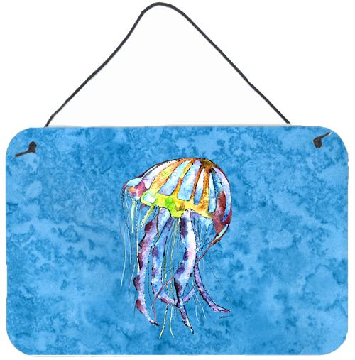 Jellyfish Indoor Aluminium Metal Wall or Door Hanging Prints by Caroline's Treasures