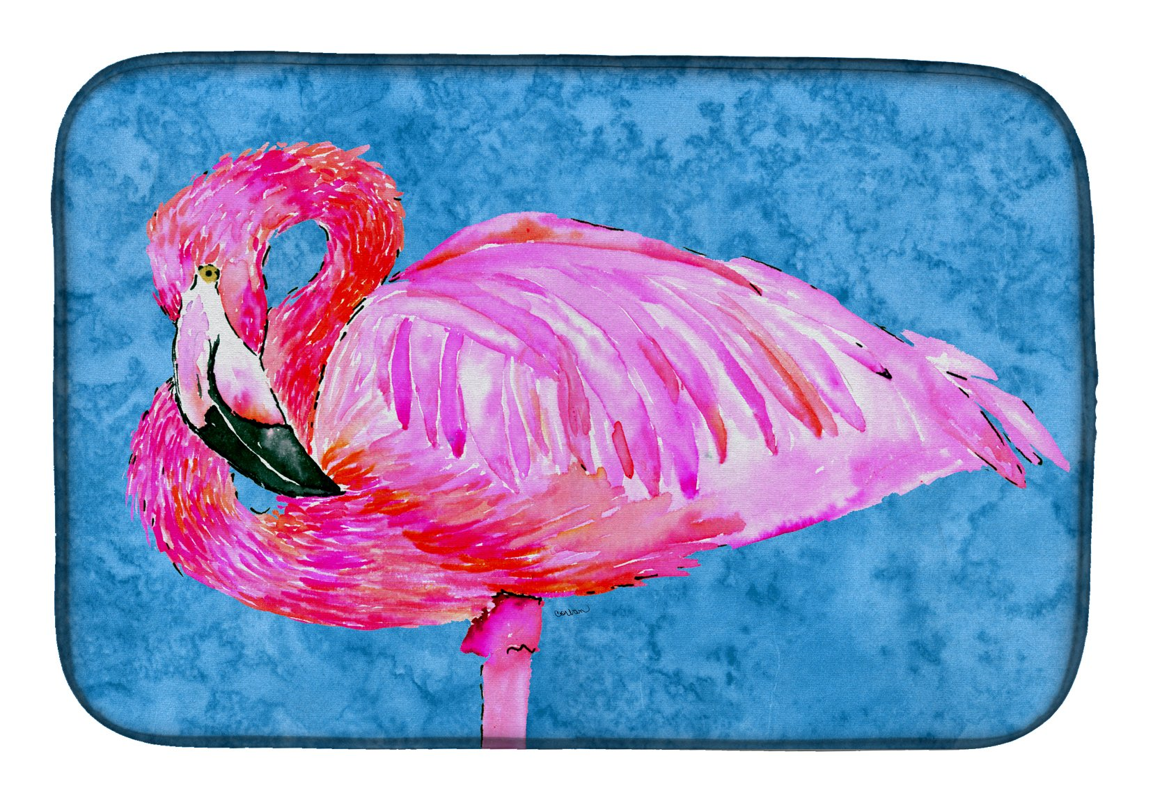 Flamingo Dish Drying Mat 8686DDM by Caroline's Treasures