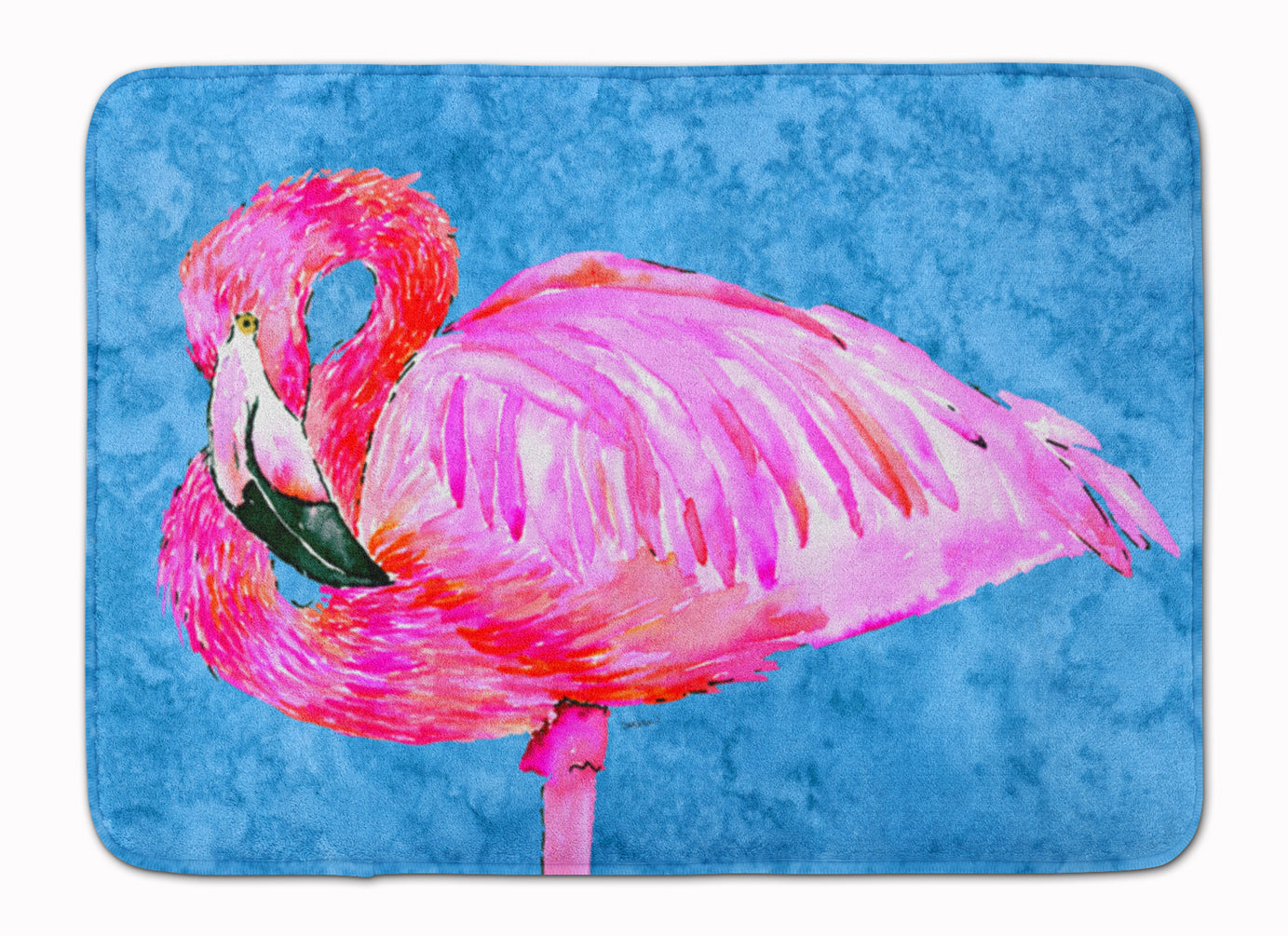 Flamingo Machine Washable Memory Foam Mat 8686RUG by Caroline's Treasures