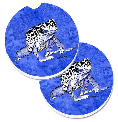 Buy this Frog Set of 2 Cup Holder Car Coasters 8687CARC