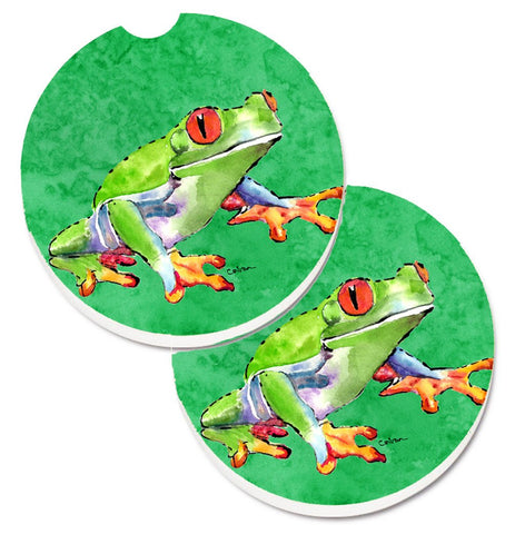 Buy this Frog Set of 2 Cup Holder Car Coasters 8688CARC