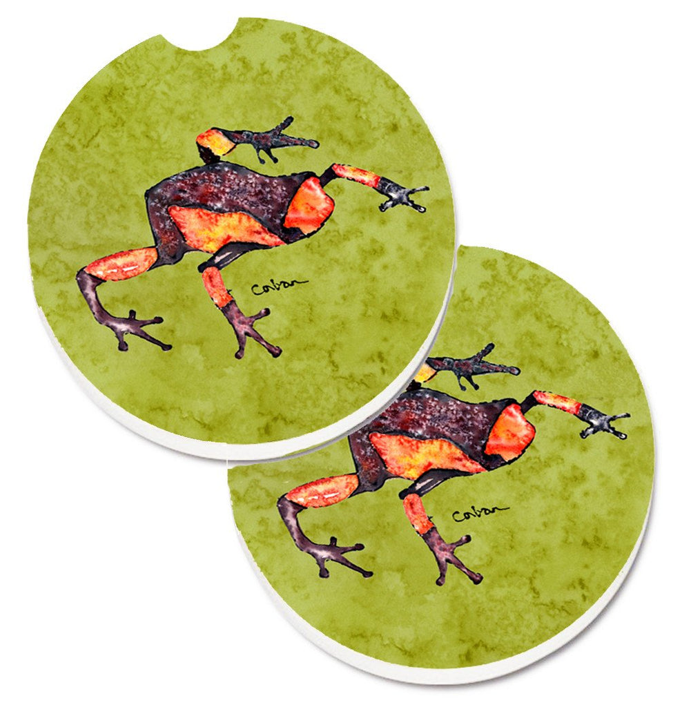 Buy this Frog Set of 2 Cup Holder Car Coasters 8689CARC