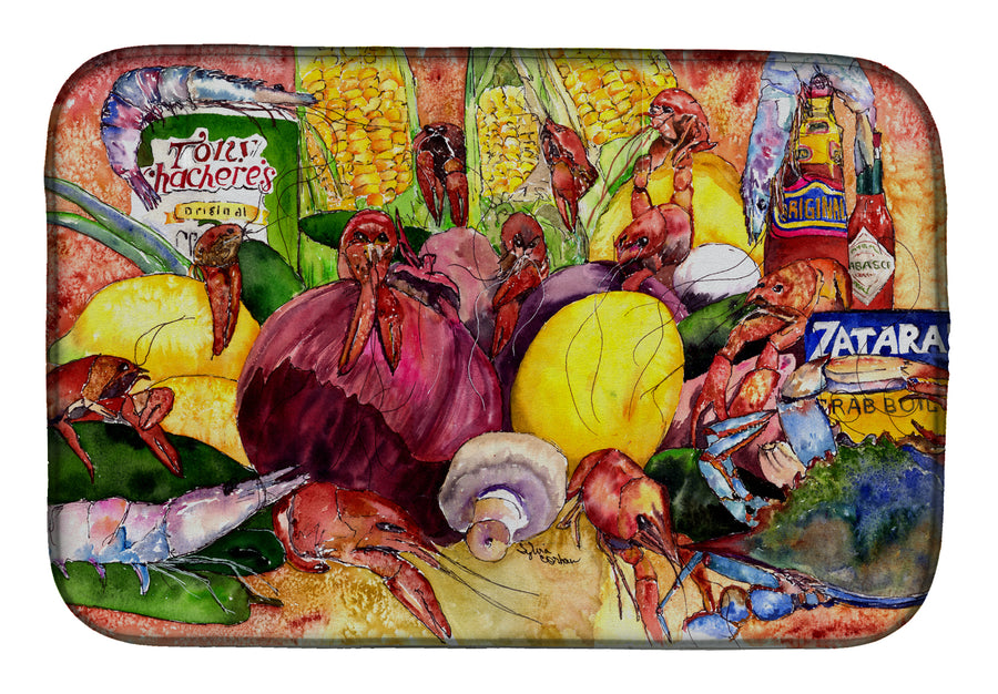 Buy this Crawfish with Spices and Corn Dish Drying Mat 8698DDM