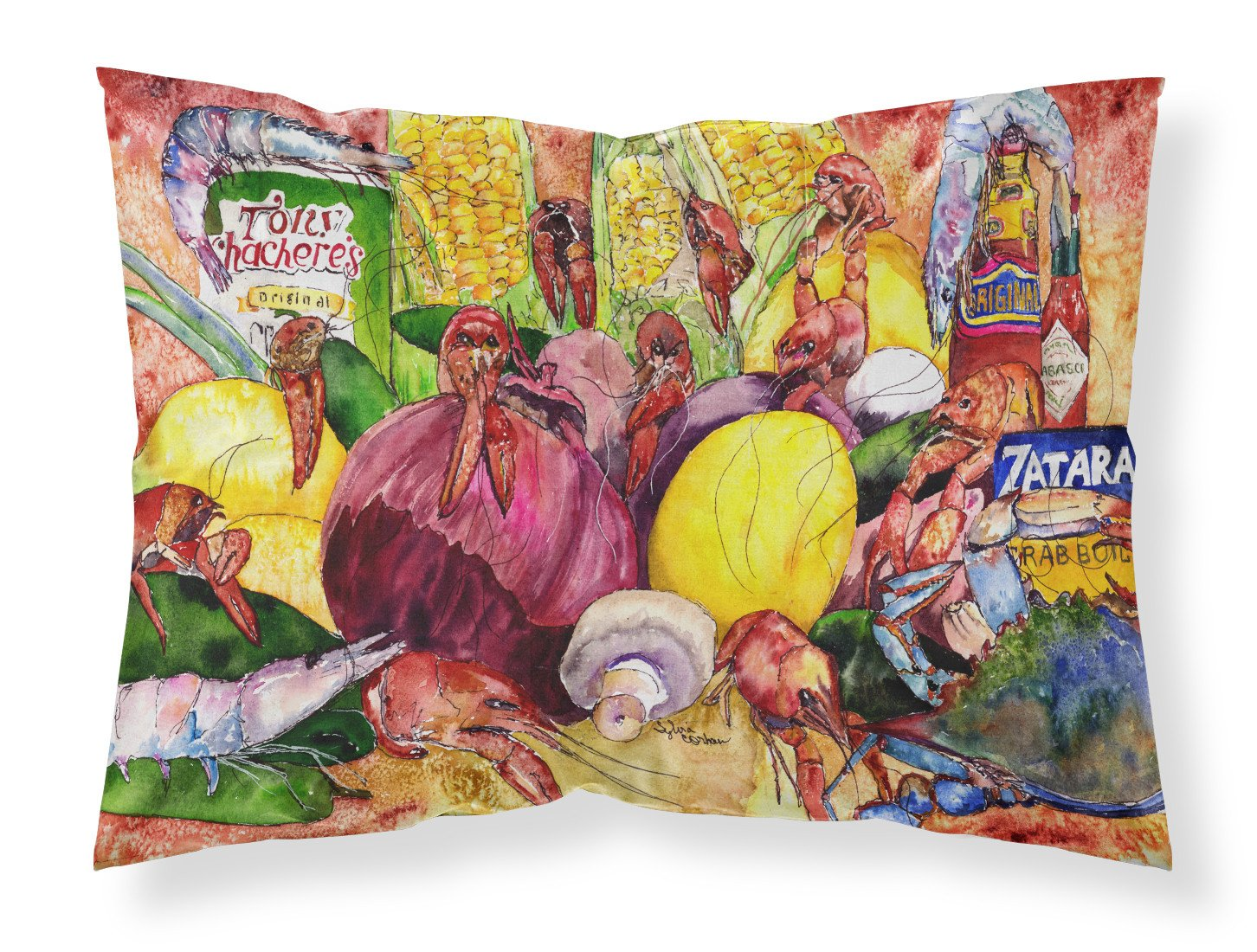 Buy this Crawfish with Spices and Corn Fabric Standard Pillowcase 8698PILLOWCASE
