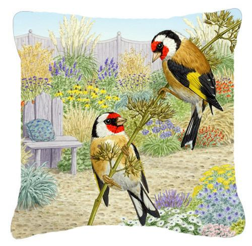 European Goldfinches by Sarah Adams Canvas Decorative Pillow ASAD0691PW1414 by Caroline's Treasures