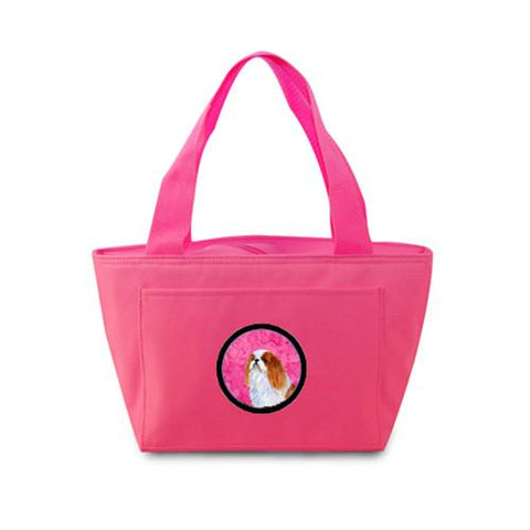 Buy this Pink English Toy Spaniel  Lunch Bag or Doggie Bag SS4783-PK