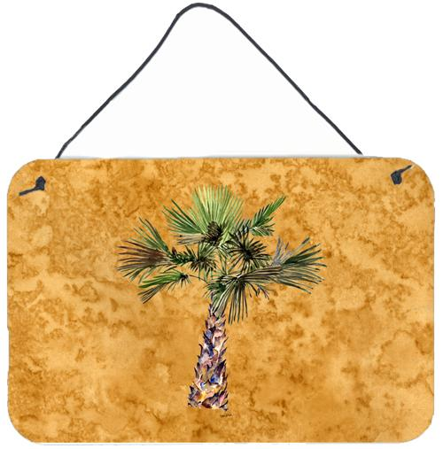 Palm Tree on Gold Wall or Door Hanging Prints 8706DS812 by Caroline's Treasures