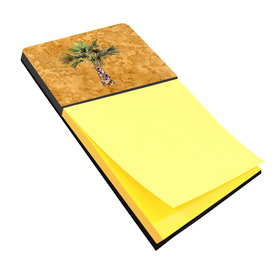 Buy this Palm Tree on Gold Sticky Note Holder 8706SN