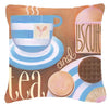 Kitchen Collection Tea by Cathy Brear Canvas Decorative Pillow BCBR0115PW1414 - the-store.com