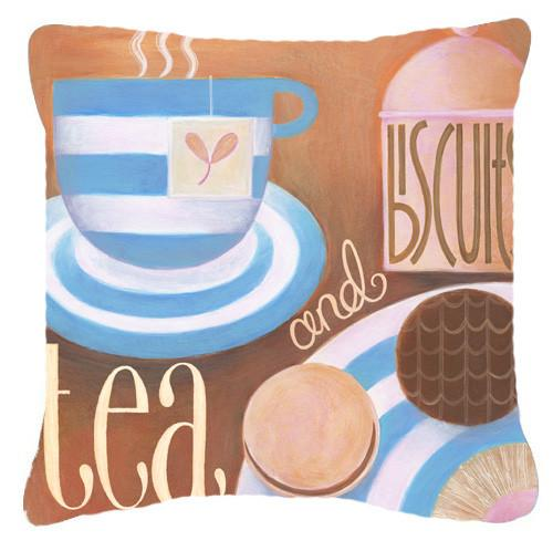 Buy this Kitchen Collection Tea by Cathy Brear Canvas Decorative Pillow BCBR0115PW1414