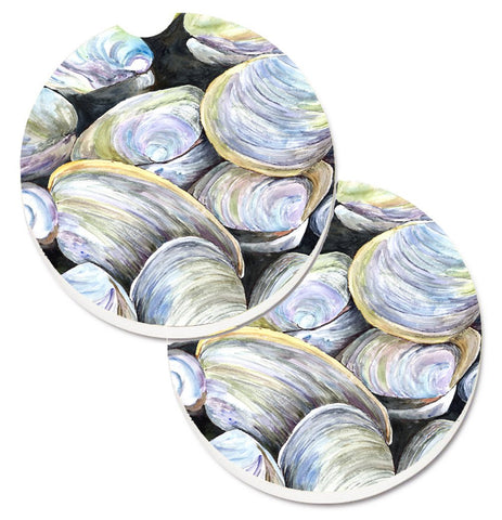 Buy this Clam Quahog Set of 2 Cup Holder Car Coasters 8714CARC
